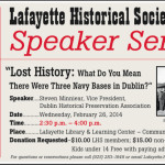 Please join us for Lafayette Historical Society's First Speaker Series Presentation of 2014!
