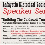 Upcoming Speaker Series on Building the Caldecott Tunnel