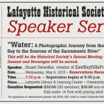 Upcoming Speaker Series: A Photographic Journey from the San Francisco Bay to the Sources of the Sacramento River