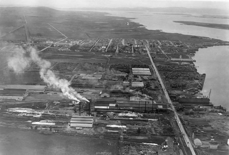 View looking west over Pittsburg, CA - circa 1930 - courtesy of the California State Lands Commission