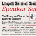 Upcoming Two-Part Speaker Series: The History and Tour of the Lafayette Cemetery